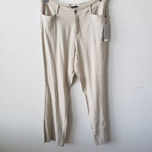 NYDJ  women's stretch linen trouser pants size 14